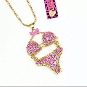 BETSEY JOHNSON~ PINK Bikini Necklace